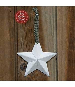 Primitive Hanging Star,  White 3.75  in.