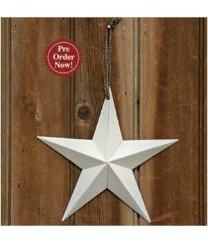 White Primitive Hanging Star, 8 in.