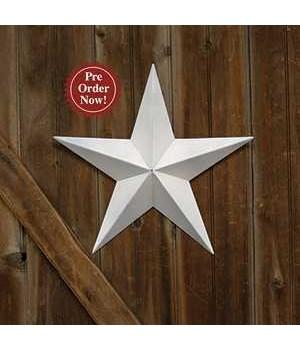 White Barn Star - 18  in.