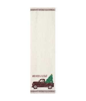 Who Needs A Sleigh Notepad 9.5h x 2.75w in.
