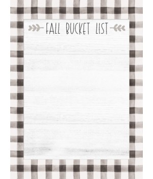 Fall Bucket List Mini Notepad 5.75 h x 4.25 w in.