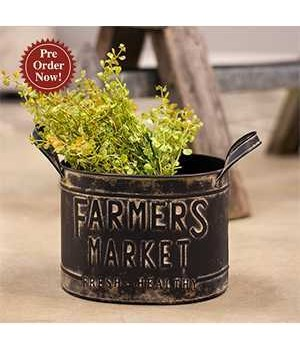 Farmers Market Bucket 8.5 x 6.5 x  6 in.