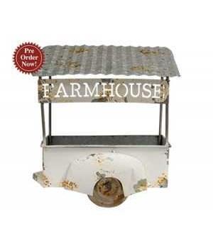 Farmhouse Flower Wagon 9 x6 x 10.25 in.