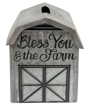 Bless You and The Farm Tissue Box 15 x 14.5 x 18.5 in.