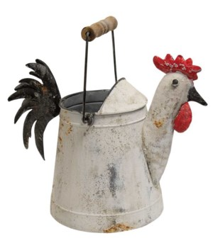 Metal Rooster Watering Can .. 33/16w x 16l x 18h in.
