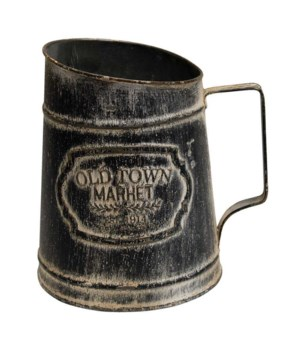 Old Town Market Black Pitcher .. 19/15.5w 5lx 19.5 h in.