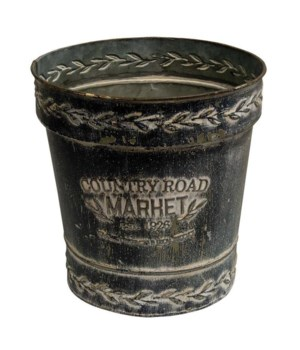 Country Road Market Black Bucket .. 21.5w x 21.5l 22h in.