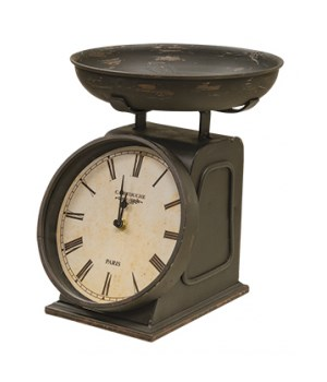 Vintage Clock w/ Scale 8.25 x 9.25 x 10.25 in.