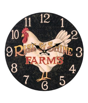 Rise & Shine Farms Clock 13 round in.