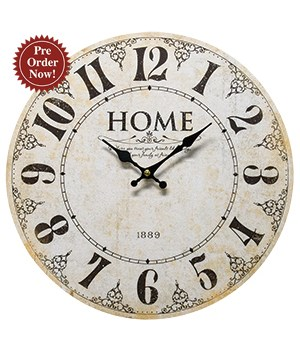 Home 1889 Wall Clock 13 round in.