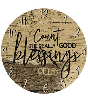 Count the Blessings Clock - 13  dia. in.