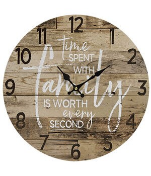Time with Family Clock 13 dia in.
