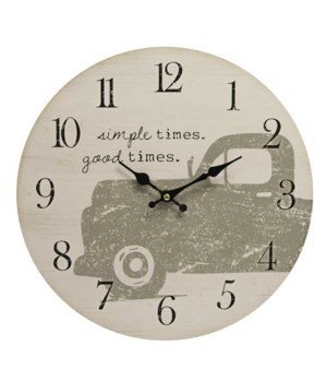 Simple Times Good Times Clock 13 x 1 x 13 in.