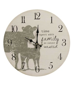 Time With Family Is Never Wasted Clock 13 x 1 x 13 in.