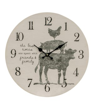 Friends and Family Farm Animal Clock 13 x 1 x 13 in.