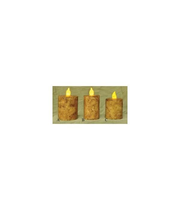 Burnt Ivory BOC Pillar - 2  x 3  Timer 2  x 3  in.
