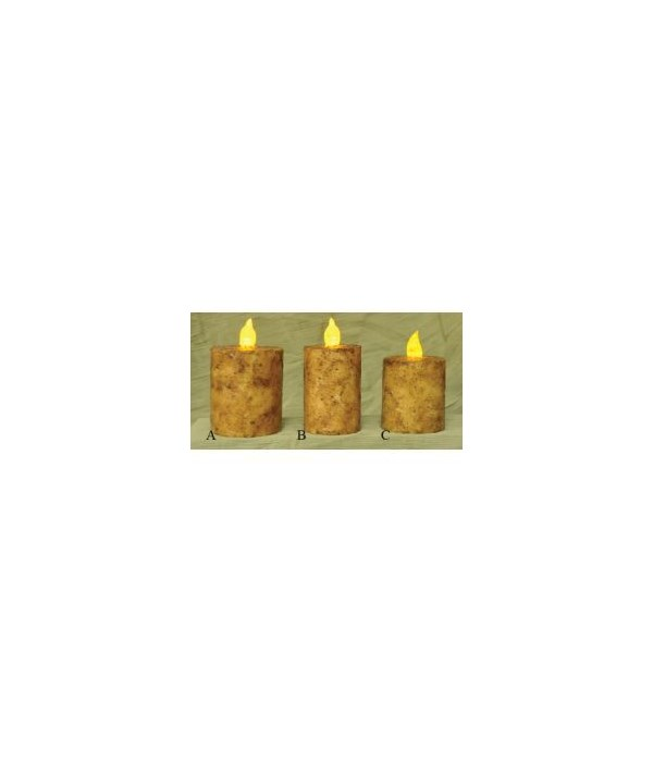 Burnt Ivory BOC Pillar - 2.5  x 2.5  Timer 2.5  x 2.5  in.
