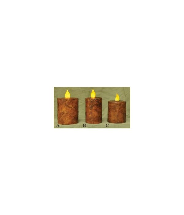 Burnt Mustard BOC Pillar - 2.5  x 2.5  Timer 2.5  x 2.5  in.