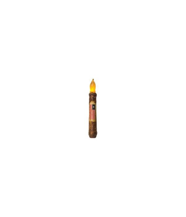 Burnt Mustard Flag Timer Taper, 6  6 in.