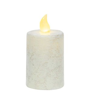 Rustic White Pillar Candle, 2.25  x 4  2.25 x 4 in.