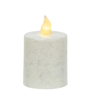 Rustic White Pillar Candle, 2.5  x 3.5  2.5 x 3.5 in.