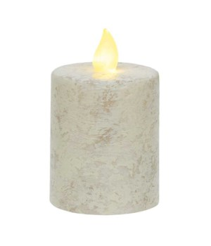 Rustic White Pillar Candle, 2.5  x 4 2.5 x 4 in.