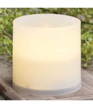 Warm Light White Pillar, 3 x 3 in.