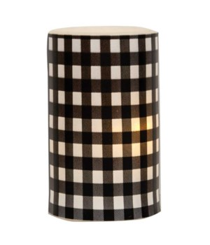 Black Small Buffalo Check Timer Pillar 3 x 5 in.