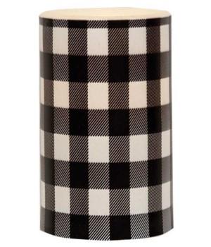 Black Large Buffalo Check Timer Pillar 3 x 5 in.