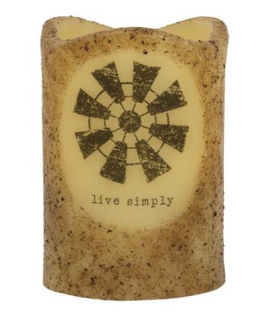 Live Simply Windmill Timer Pillar 3 x 4.5 in.