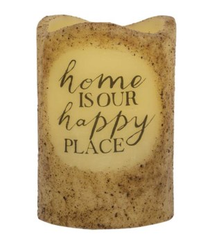 Happy Place Timer Pillar 3 x 4.5 in.