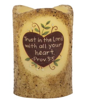Trust in the Lord Timer Pillar 3 x 4.5 in.