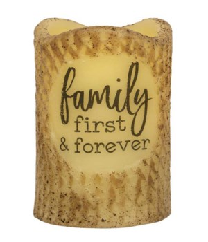 Family First Forever Timer Pillar 3 x 4.5 in.