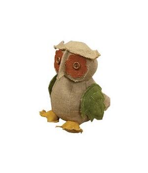 Stuffed Burlap Owl 12.75 x 6.75 in.
