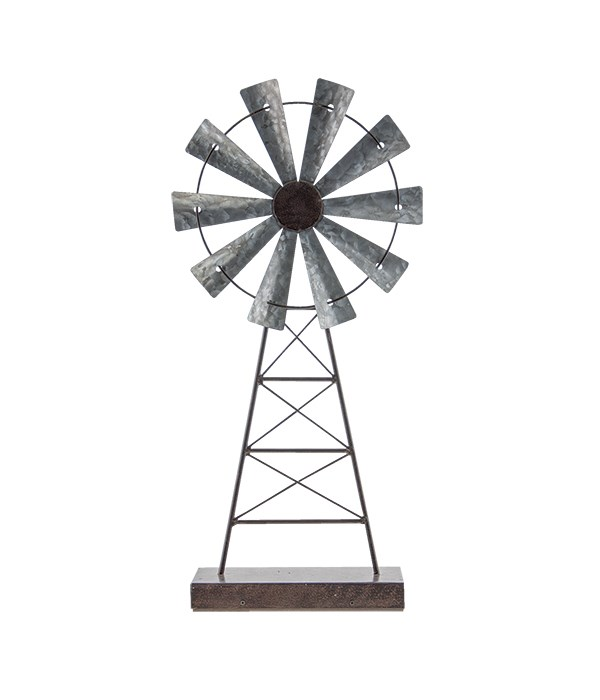 Rustic Windmill Stand 19 x 8 in.