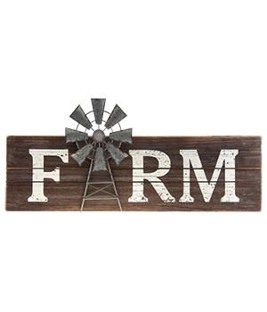 Farm Windmill Sign 7 x 24 in.
