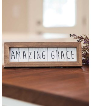 Wood Amazing Grace Framed Easel - 3 H x 9.25  W in.
