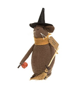 Witchy Poo Mouse 7.50h x 6w x 4 in.