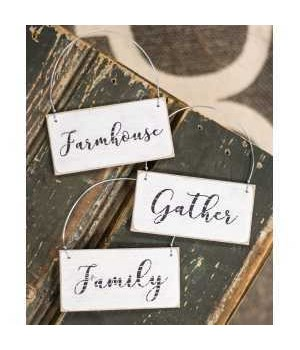Gather Ornament, 3- asst. 3.5 x 1.75 in.
