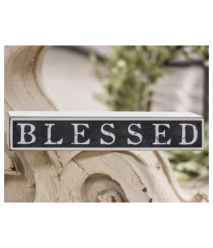 Blessed Galvanized Metal and Wood Block 7.75 x 5.5 in.