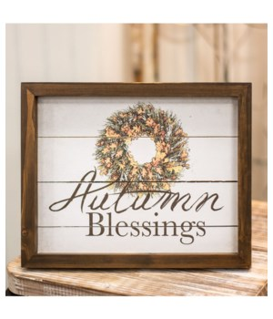 Autumn Blessings Easel 8h x 10w x .75l in.