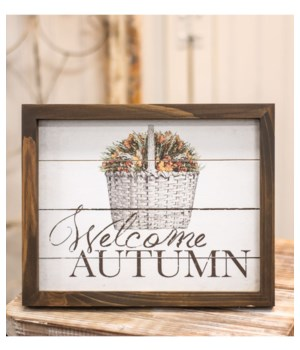 Welcome Autumn Easel 8h x 10w x .75l in.