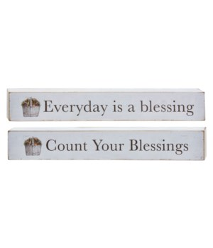 Everyday Is A Blessing Block, 2 asstd. 1.50h x 10w x .75l in.