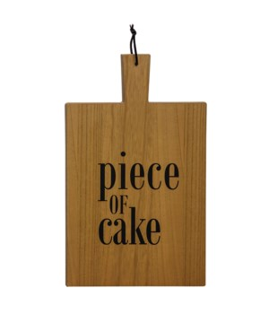 Piece of Cake Cutting Board Wall Hanging 19h x 12 w .50l in.