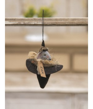 Eek Mouse Witch Hat Ornament 5.5 x 2.25 in.