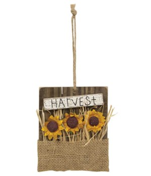 Harvest Sunflower Ornament 1DP x 4.25w x 5h in.