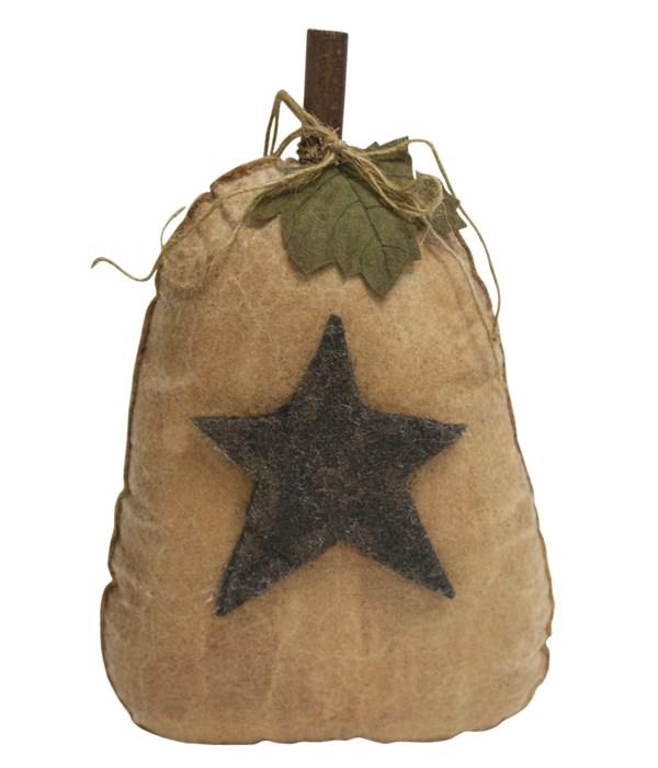 Stiffened Cream Pumpkin With Star