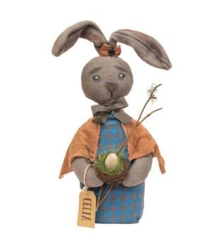 Celia Bunny Doll 6.5 l x 5  dp x 20 h in.