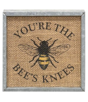 Bee's Knees Metal Box Sign 6 sq x 1.25 dp in.