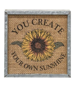 Your Own Sunshine Metal Box Sign 6 sq x 1.25 dp in.